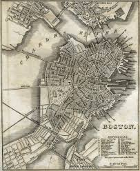 Map Of Old New York by Vintage Map Of Boston Ma Circa 1842