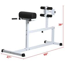 Hyperextension Benches Yaheetech Hyper Extension Workout Training Bench Fitness Strength Roma