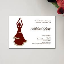 mehndi card henna party mehndi wedding invitations dancers by soulful moon