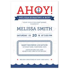 nautical baby shower invitations ahoy nautical baby shower invitation with anchor and blue