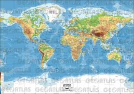 World Map Us by Geoatlas World Maps Miller Projection Map City Illustrator