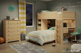 White Wood Loft Bed With Desk by Bunk Bed Desk Combo Best Home Furniture Decoration