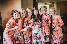 and bridesmaid robes coral bridesmaids robe sets kimono crossover robe bridesmaids