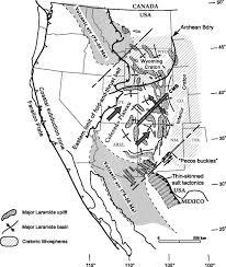 Western Colorado Map by Tectonic Origin Of The Colorado Mineral Belt