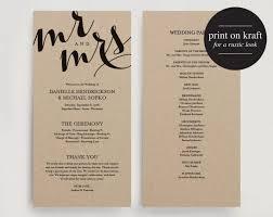 wedding church programs adorable diy programs for weddings wedding ideas