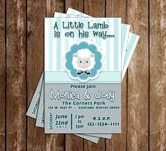 novel concept designs little lamb baby shower invitation