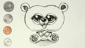 draw cartoon bear cub easy u0026 cute simple coin