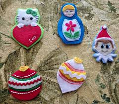 advent tree felt ornaments part 2 baking and creating