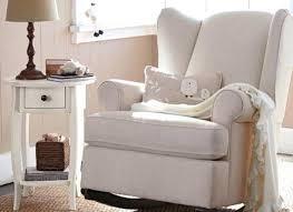 baby nursery rocker living modern rocking chair upholstered ivory