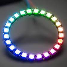 24 leds digital ws2812b programmable pixel led light ring