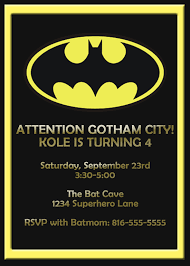 batman birthday invitations templates batman invitations card