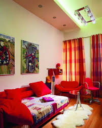 Wall Paint Colors Catalog Living Room Colorful Small Living Room With Wooden Floor And Red