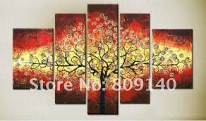 Handmade Home Decor Big Wall Art Multiple Canvas Wall Art Trees Google Search More