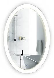 amazon com oval led bathroom mirror 20 inch x 30 inch lighted