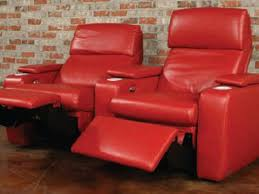 furniture elegant red leather recliner for comfortable family