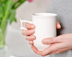 Decorating Porcelain Mugs Coffee Ceramic Mug With Black Skirt Decoration Porcelain Mug