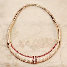 all swarovski crystal necklace images Vintage christian dior ruby red swarovski crystal necklace jpg