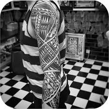 maori sleeve 3d maori tattoo on half sleeve