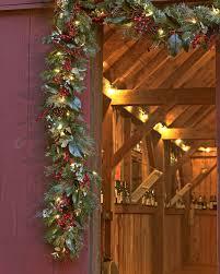 Outdoor Lighted Garland Best 25 Pre Lit Christmas Garland Ideas On Pinterest Pre