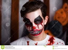 Halloween Makeup Clown by Horror Clown Makeup Stock Photo Image 68610909