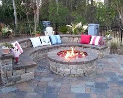 small backyard fireplace like the brick color garden design