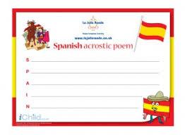 Acrostic Thanksgiving Poem Acrostic Poem In Spanish Ichild