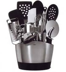porte ustensiles de cuisine pot à ustensiles ovale inox oxo tout à portée de cuisin store