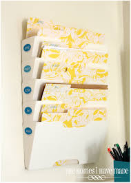 Diy Home Center by Wall Mounted Filing System Diy Pretty File Folders Command Center