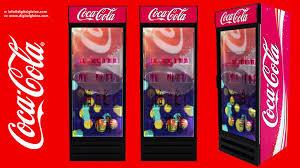 coca cola fridge glass door dg coke refrigerator door with transparent lcd display youtube