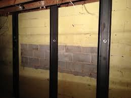 block basement wall repair basement ideas