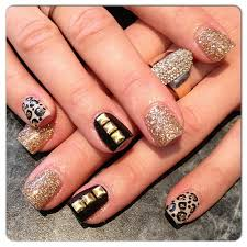 6 most stylish leopard and cheetah nail designs gold nail