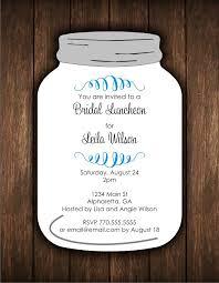 jar invitations jar die cut invitation bridal shower or any occasion