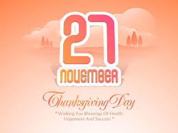 thanksgiving day celebration poster with date stock illustration