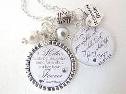 Mother Daughter Keepsakes Personalized Mother Of Bride Gift Bridal Jewelry White Mother