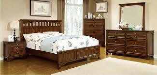 furniture of america bedroom set chelsea cherry finish