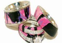 camo wedding sets pink camo wedding ring sets with real diamonds