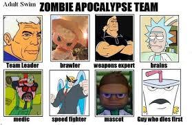 Adult Swim Meme - adult swim my zombie apocalypse team know your meme