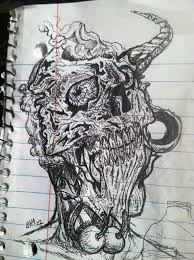 skull sketch 2 by santamariatattoo on deviantart