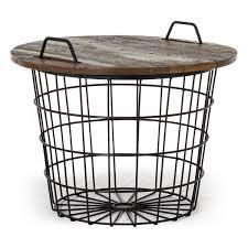 Wohnzimmertisch Skandinavisch Korbtisch Couchtisch Im Skandinavischen Möbel Look Aus Metall
