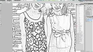 making coloring pages from photographs using gimp within convert