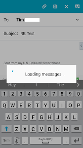 android email email shows loading messages when i try to reply to an email
