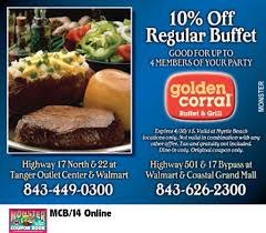 Buffet Golden Corral by Golden Corral Buffet And Grill Myrtle Beach Resorts Coupons