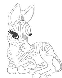cute zebra coloring pages