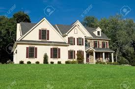 new colonial style single family house suburban philadelphia stock