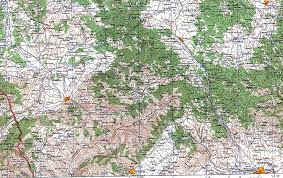 Physical Map Europe by Southern Kosovo Physical Map 1959 Full Size