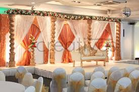wedding backdrop london open peacock mandap ceremony floral decor indian wedding