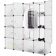 amazon com lifewit 4 tier clothes closet diy portable wardrobe