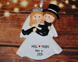 personalized engagement ring box ornament