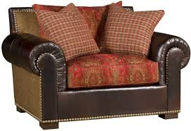 Fabric And Leather Sofa by Rustic Sofas U0026 Chairs Southern Creek Rustic Furnishings