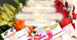 woocommerce personalized greeting card byconsole products
